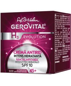 Gerovital H3 Evolution Anti-wrinkle cream, highly moisturizing, SPF 10-Farmec.