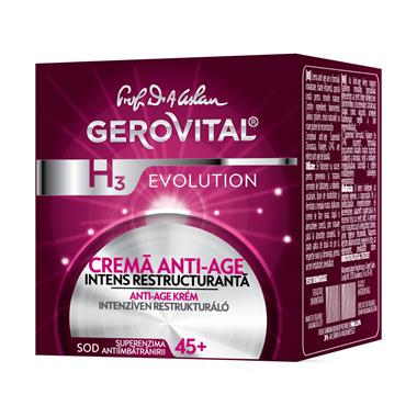 Gerovital H3 Evolution Anti-ageing cream, intensive restructurating-Farmec.