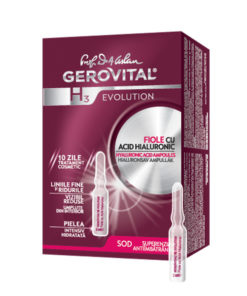Gerovital H3 Evolution, Hyaluronic Acid Ampoules-Farmec.