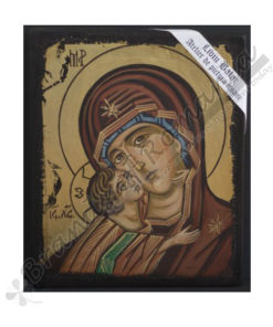The Virgin Mary of Vladimir handmade Icon Painting, on wood.