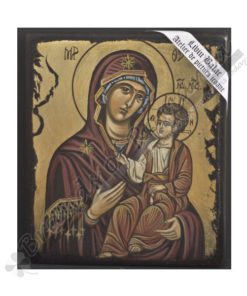 Virgin Mary Hodigitria handmade Icon Painting, on wood