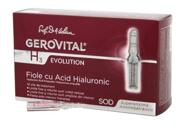 Hyaluronic Acid Ampoules Gerovital H3 Evolution
