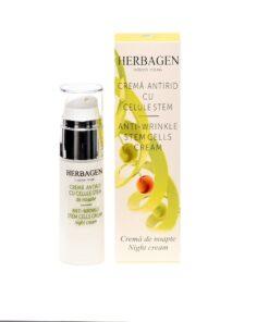 Anti-wrinkle night cream with stem cells